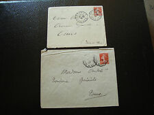 FRANCE - 2 enveloppes 1908 1909 (cy13) french