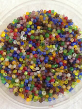50g glass seed beads - Mixed Frosted - approx 2mm (size 11/0) colour mix craft
