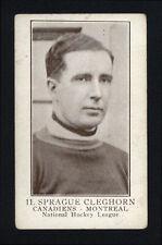 1923-24 V145-1 WILLIAM PATERSON ~ #11 ~ SPRAGUE CLEGHORN ~ HALL OF FAME MEMBER