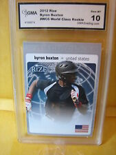 BYRON BUXTON TWINS  2012 LEAF RIZE WORLD CLASS ROOKIE RC # WC6 GRADED 10