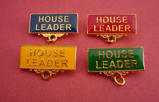 HOUSE LEADER Metal Badge Bar Pin Choose From 4 Colours