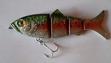 Leurre poisson nageur articulé Trendex Moonfleet 1 BEHR 11,5cm 24g pêche brochet