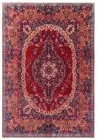 Hand Knotted Red Blue Orange Wool Mood Oriental Rug Carpet 10' x 13'1""