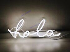 "New Hola Neon Sign Acrylic Gift Light Lamp Bar Wall Room 15""x8"""