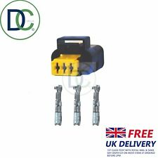 Pressure Sensor Plug / Connector 3 Pin to fit Delphi Sensor in Renault x 1