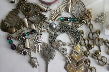 Mixed Lot of Jewelry Findings and Charms Owls Keys Skeleton Jump rings & MORE