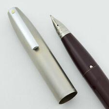 Sheaffer Imperial II Deluxe Fountain Pen - Burgundy, Medium, TD  (New Old Stock)