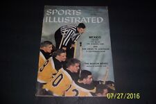 1957 Sports Illustrated BOSTON Bruins GARDNER Stanley BIONDA No Label NEWSSTAND