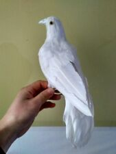 simulation white dove toy plastic&furs standing peace dove doll gift about 30cm