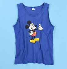 80s Vintage Mickey Mouse Tank T Shirt Disney Character Fashions Womens XL Mens M