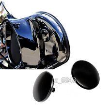 La Choppers Black Inner Fairing Mirror Plugs for Harley FLH/T Batwing 96-16