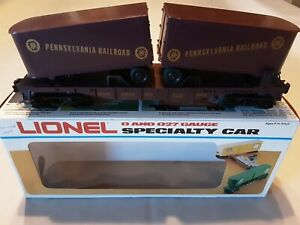 Lionel Pennsylvania Flat Car with Trailers, Traditional O Scale, Item# 6-16303