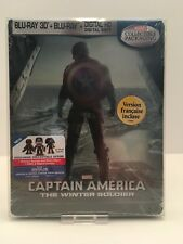 Captain America: The Winter Soldier (Blu-ray Disc, 3D) With Protective Cover