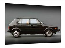 VW Golf MK1 GTI - 30x20 pulgadas lienzo Arte-Volkswagen Mark 1 enmarcado cuadro