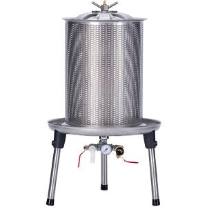 Speidel Stainless Steel Bladder Press - 40 Liters - Wine, Fruit, Herbal Tincture