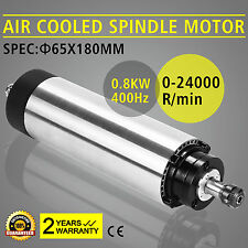 CNC 0,8KW Spindle Motore Mandrino Aria Raffreddato Precise Inverter Mill Grind