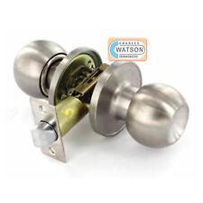 Stainless Steel PASSAGE KNOB SET Door Handle Latch Fixings