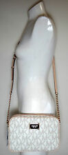 MICHAEL MICHAEL KORS JET SET LARGE EAST WEST MK LOGO VANILLA Crossbody Bag
