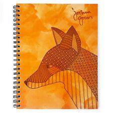 Monster papelería-Verde A4 Forrado Notebook-Hecho en Reino Unido-Fox