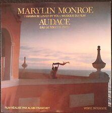 MARYLIN MONROE : musique du film AUDACE EAU DE TOILETTE PARIS 45 TOURS  2 Titres