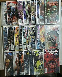 BATMAN THE DARK KNIGHT NEW 52 comic lot 0 - 29  #1 is 2nd print