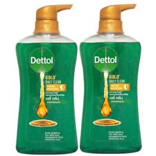 2 x 500 ml Dettol Gold Shower Gel Daily Clean Bath & Body Washes Fresh New + DHL