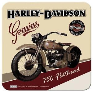 Nostalgic Art Metalluntersetzer Harley Davidson Genuine Flathead 9 x 9