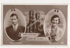 Royal Marriage Duke Of Kent & Princess Marina 1934 RP Postcard Royalty 708b