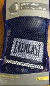 Everlast Boxing Gloves Wrist wrap Training Gloves - Small 12oz. -2912B Blk/Wht