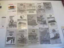 Nice lot Lionel Century Club Locomotive Owners Manuals.  All complete