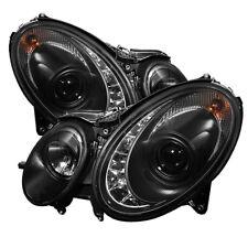 Mercedes Benz W211 03-06 E320 E350 E500 E55 Noir DRL Led Projecteur Phare