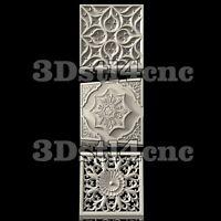 3 3D STL Models Wall Panels for CNC Router Carving Machine Artcam aspire Cut3D
