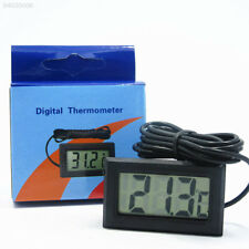 CCF0 8A61 Digital LCD Fish Tank Aquarium Thermometer With Waterproof Probe Black