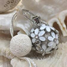 Flower Rhinestone Crystal Aromatherapy diffuser Necklace Essential Oil Lava