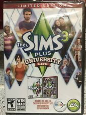 New! The Sims 3 Plus University Life: Limited Edition (PC, 2013) Sealed! SeePics
