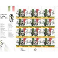 Foglietto Juventus Campione d'Italia 2013-2014 San Marino
