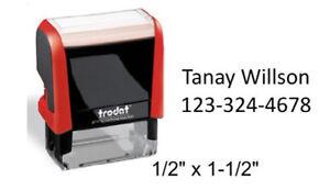 Custom Trodat 4911 Address Name Stamp 2 to 3 line Clothing Marker self ink stamp
