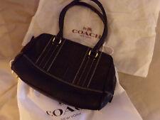 COACH SAC BAG Borsa en cuir Leather noir black
