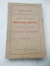 Original Papers Of The Norfolk & Norwich Archaeological Society -Dated  1939