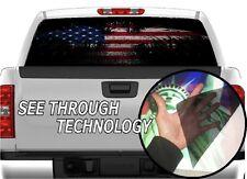 P321 American Flag Eagle Rear Window Tint Graphic Decal F150 Ram silverado 1500