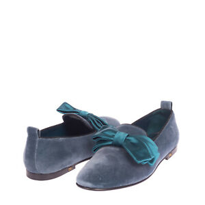 RRP €650 DOLCE & GABBANA Velour Loafer Shoes EU 43 UK 9 US 10 Bow Made in Italy