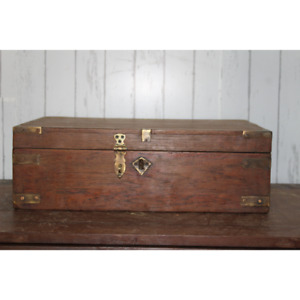 Indian Solid Rustic Wooden Keepsake Gift Box with lock Decorative box with lids