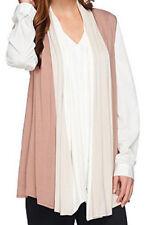 NEW LOGO BY LORI GOLDSTEIN Color-Block Drape Front Knit Vest 255772