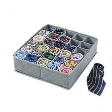 Foldable 30Cells Bamboo Charcoal Underwear Socks Drawer Organizer Storage Boxes
