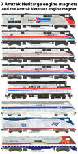 Amtrak 40th Anniversary Heritage & Amtrak Veterans magnets by Andy Fletcher