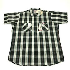 NEW VINTAGE Work World 1/4 Zip Shirt Mens Size Extra Large 1X CRISP NOS USA MADE
