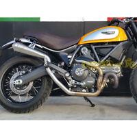 Scarico semicompleto 2in1 Tromb Inox high Ducati Scrambler my 2014-18 omologato