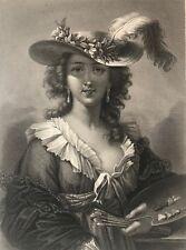 Élisabeth Vigée Le Brun (1755-1842)  artiste peintre française 1863  .