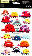 Recollections 3D Themed Stickers - TURTLES - Beach Ocean River Animals