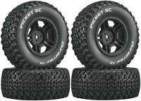 NEW Duratrax SC Picket Tires / Wheels (4) Traxxas Slash 4X4 / HPI Blitz F R